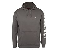 Graphic Hoody- Sleeve Logo, Granite, dynamic
