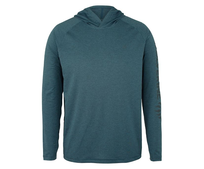 Sun-Stop Pullover Hoody, Dark Navy Heather, dynamic