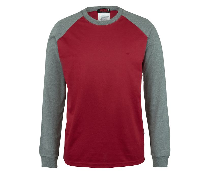 FR Brower Long Sleeve Tee, Dark Red, dynamic