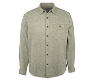Emmet Long Sleeve Flannel Shirt, Black Olive Heather, dynamic