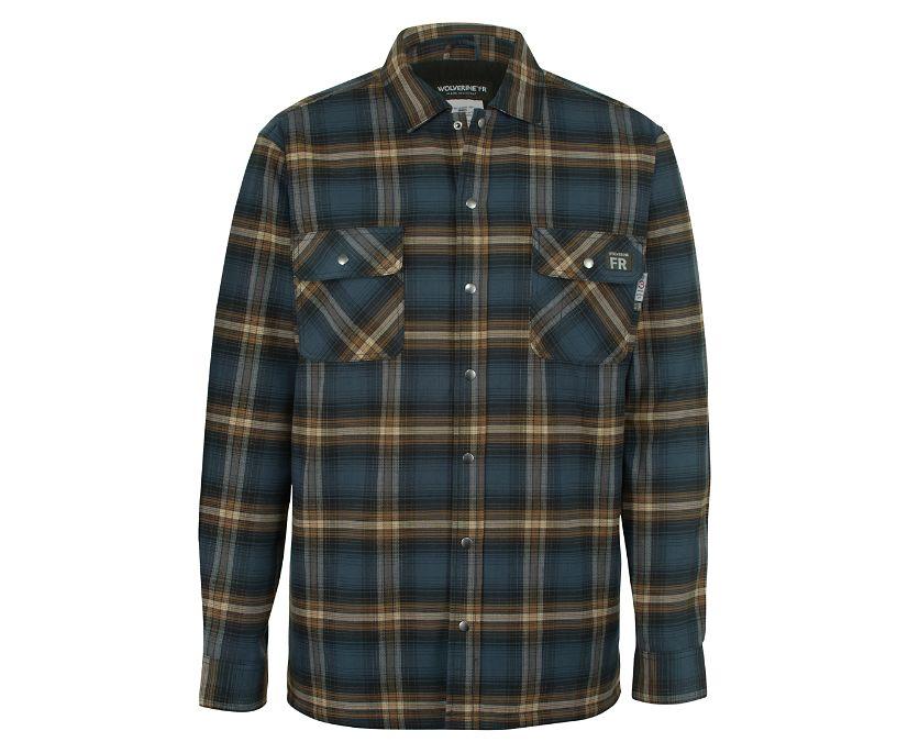 FR Plaid Jacket, Dark Navy Plaid, dynamic