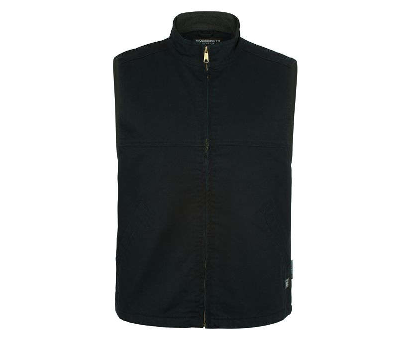 FR Canvas Vest, Black, dynamic
