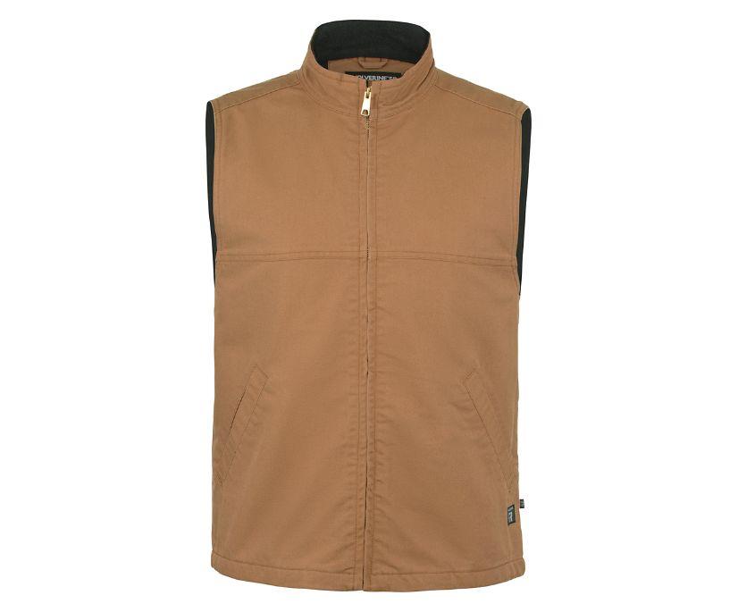 FR Canvas Vest, Brown, dynamic