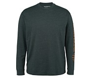 Graphic Long Sleeve - Sleeve Logo, Onyx Heather, dynamic
