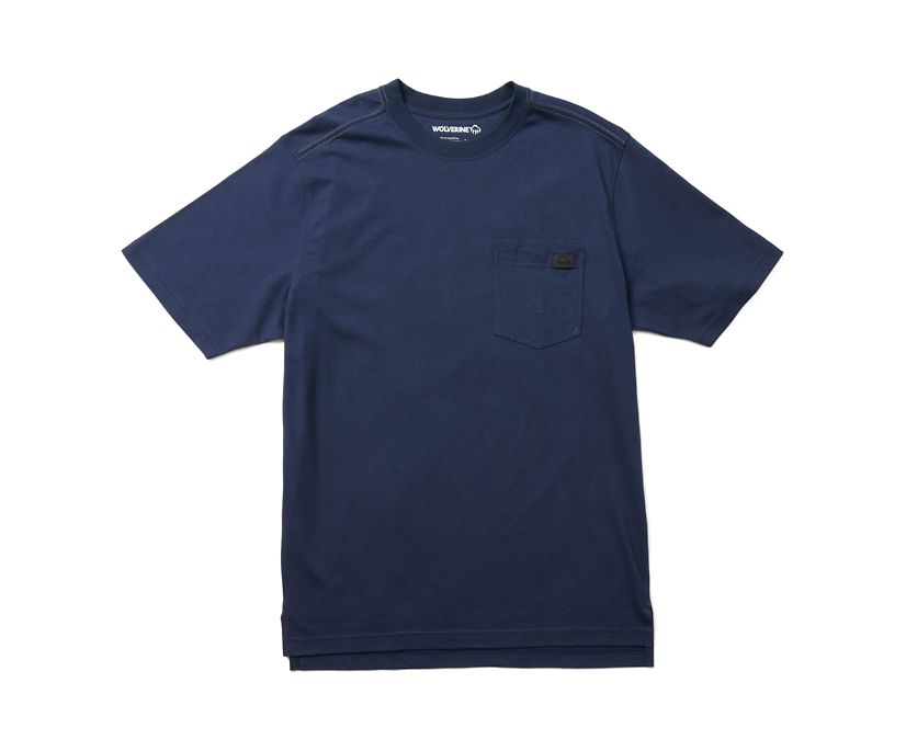 Guardian Cotton Pocket Tee, Navy, dynamic