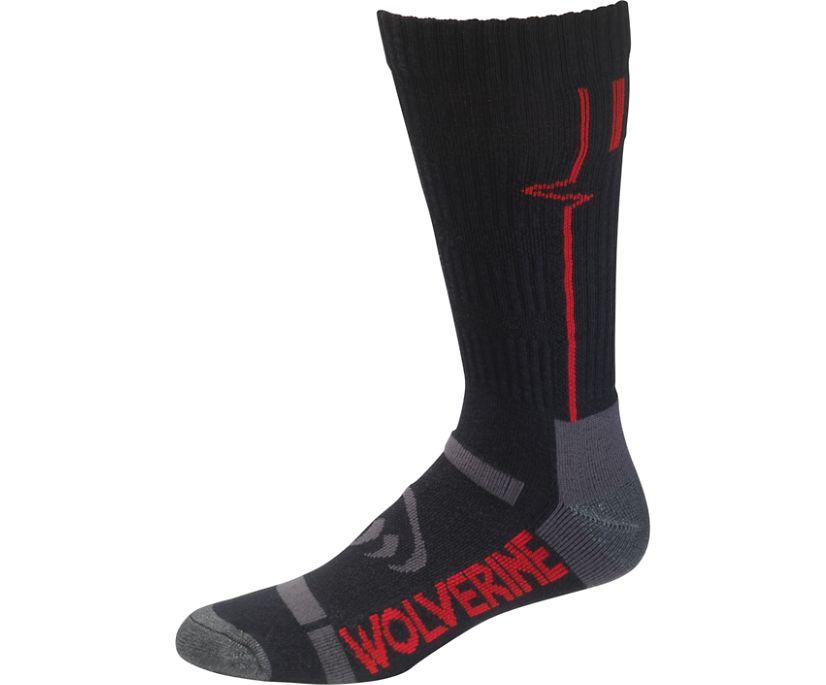 Light Industrial DuraShocks Crew Sock (2 pk), Black, dynamic
