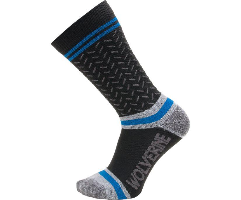 3PK Shift Plus Crew Sock, Black, dynamic