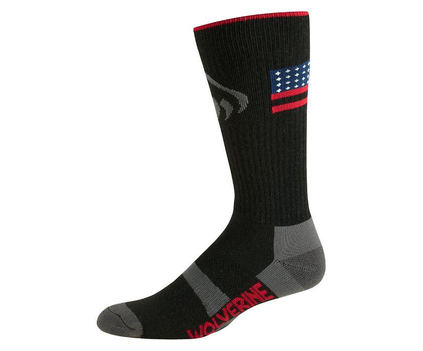 2PK Ramparts Crew Sock, Black, dynamic