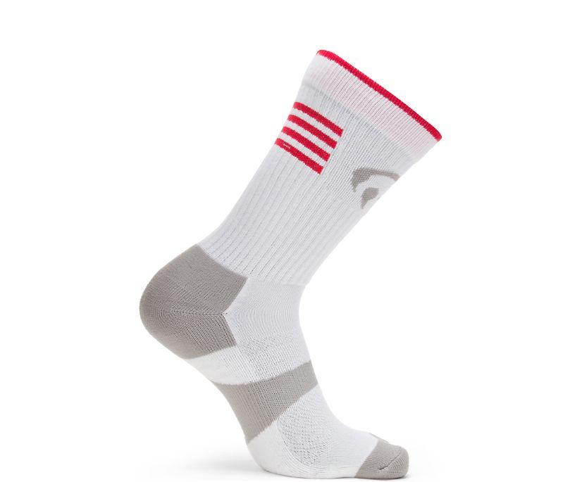 2PK Ramparts Crew Sock, White, dynamic