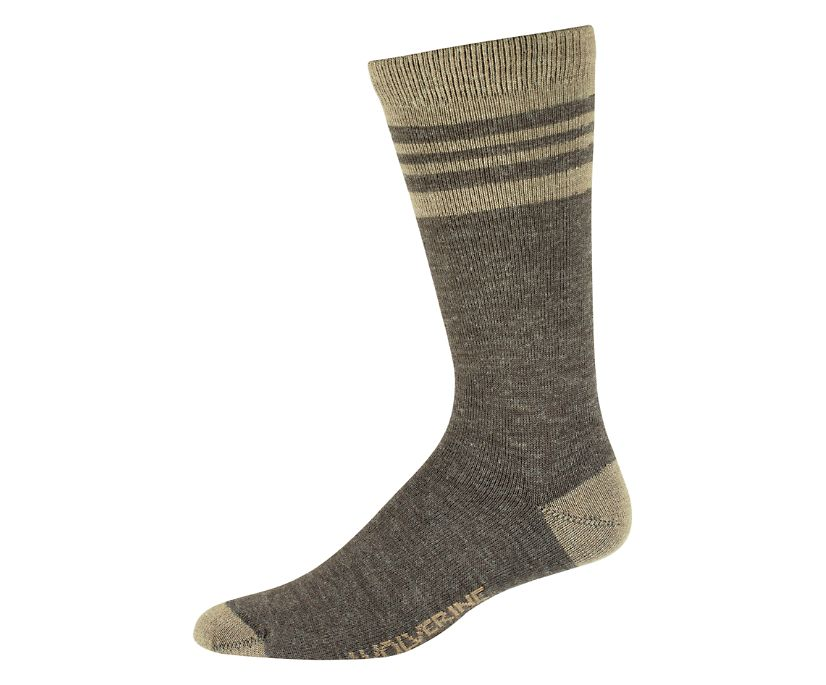 BLVD Crew Sock, Brown, dynamic