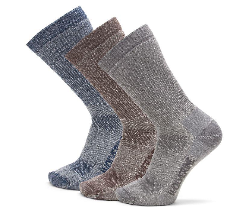 3PK Wool Boot Sock, Grey, dynamic