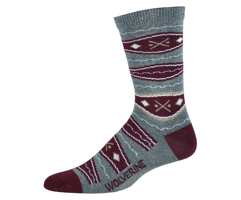 BLVD Crew Sock, Grey, dynamic