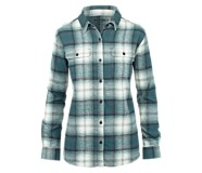Long Sleeve Aurora Flannel, Dark Blue Plaid, dynamic