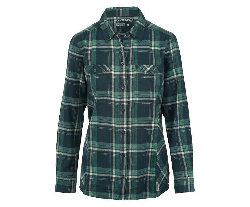 Autumn Long Sleeve Flannel, Dark Slate, dynamic