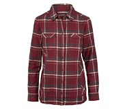 Autumn Long Sleeve Flannel, Cranberry Plaid, dynamic