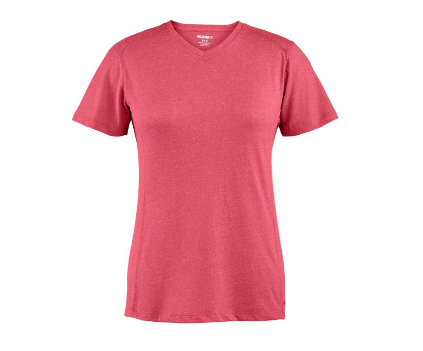 Edge Short Sleeve Tee, Sangria Heather, dynamic