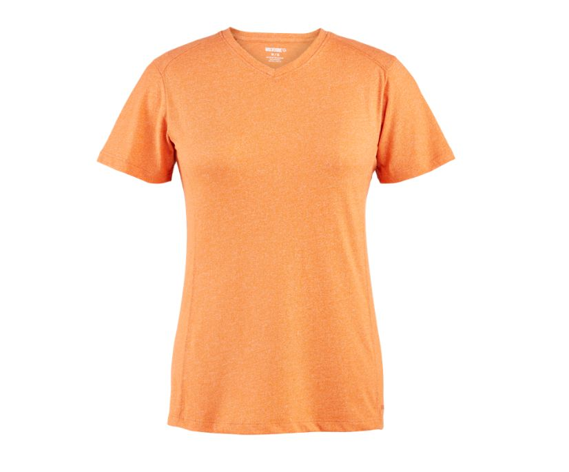 Edge Short Sleeve Tee, Melon Heather, dynamic