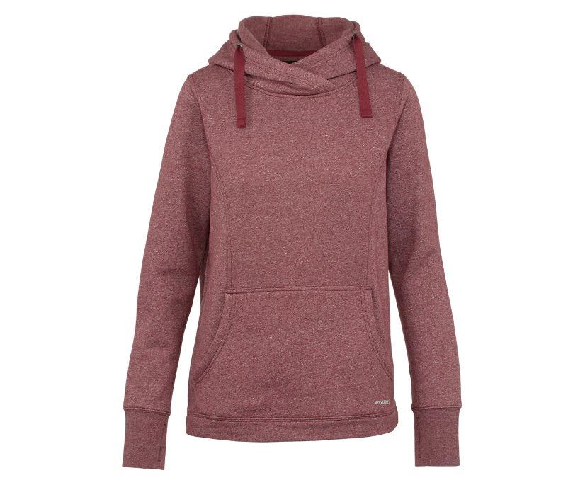 Madison Pullover Hoody, Cranberry Heather, dynamic