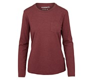 Natalie Long Sleeve Tee, Cranberry Heather, dynamic