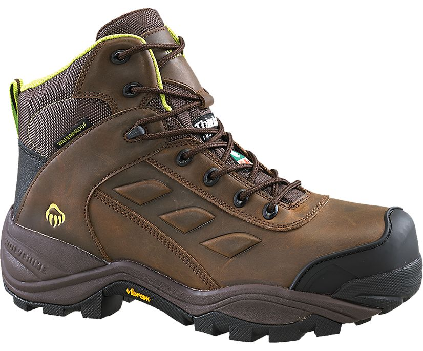 """Growler CSA Composite Toe Insulated Waterproof 6"""" Work Boot, Brown, dynamic"""