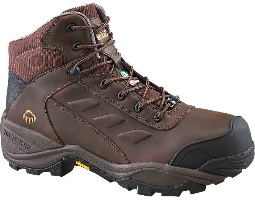 """Growler Composite Toe Insulated Waterproof 6"""" Work Boot, Brown, dynamic"""