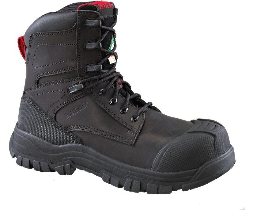 Valour 8`` CSA (Composite Toe, Internal Met-Guard), Black, dynamic
