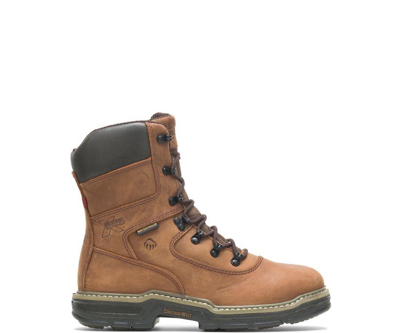 "Marauder Insulated Steel Toe 8"" Work Boot, Brown, dynamic"