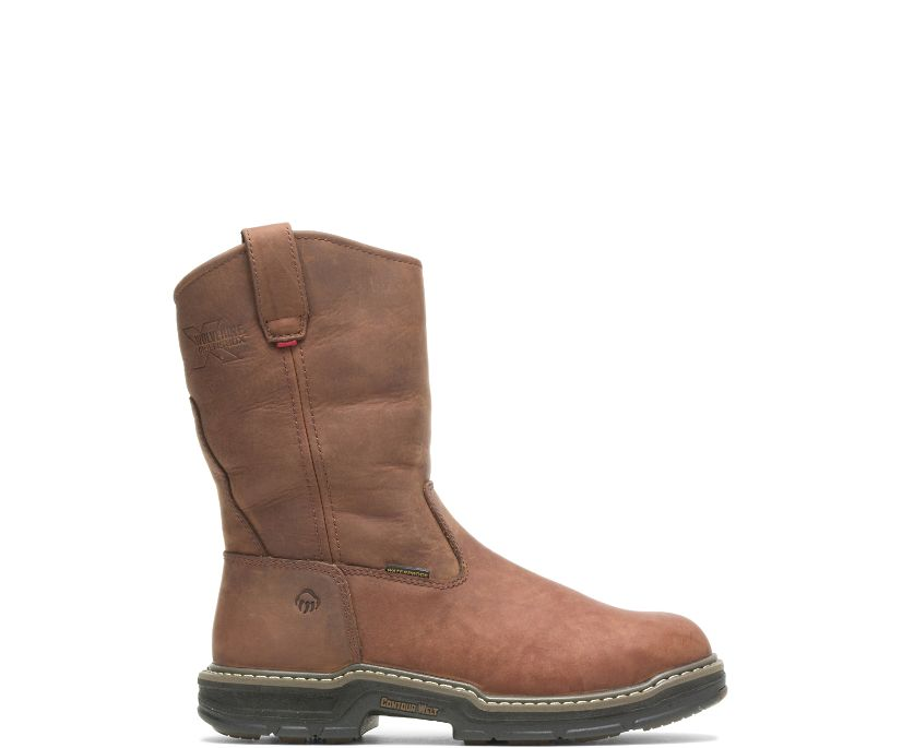 Marauder Insulated Steel-Toe Wellington, Brown, dynamic