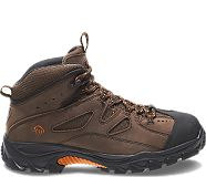 Hudson Steel-Toe Work Boot, Dark Brown/Black, dynamic