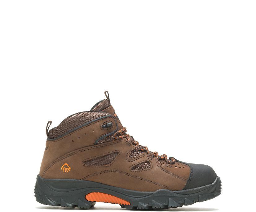 Hudson Steel-Toe Work Boot, Dark Brown/Black, dynamic