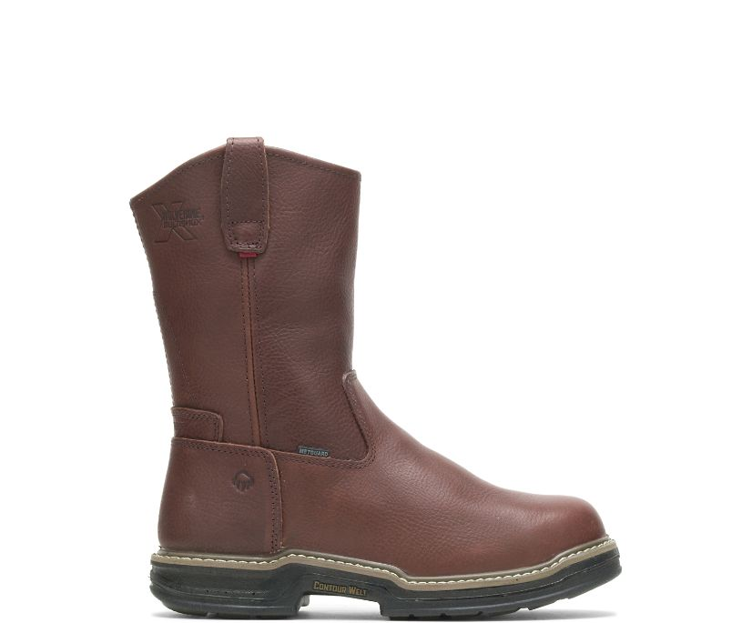 Darco Waterproof Steel-Toe Wellington, Brown, dynamic