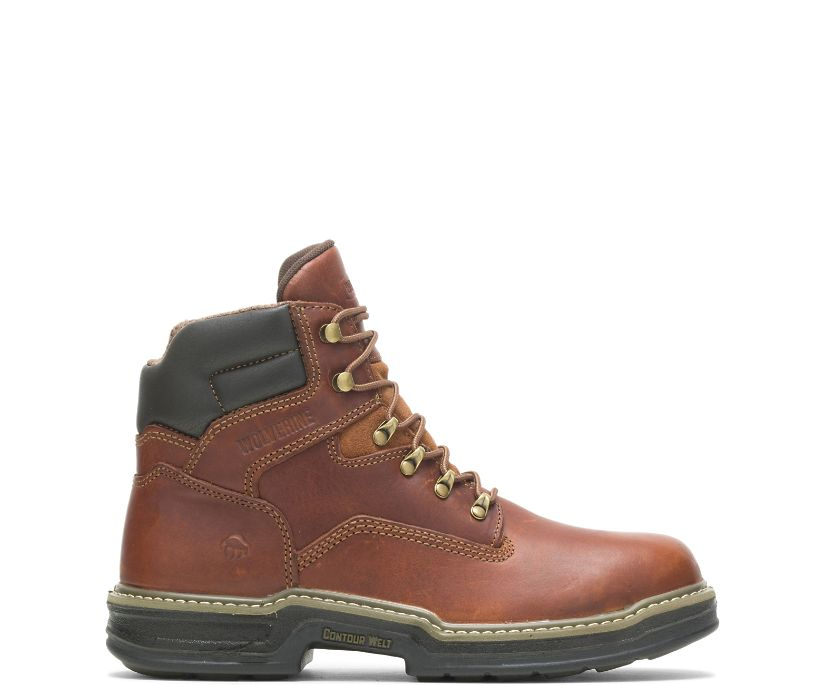 "Raider Steel-Toe 6"" Work Boot, Brown, dynamic"
