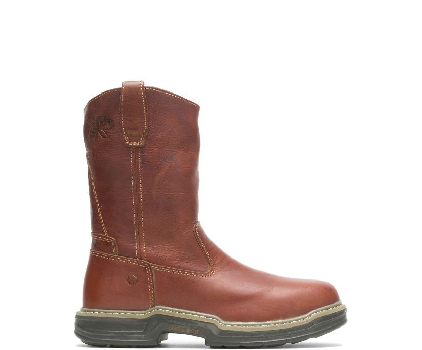 Raider Steel-Toe Wellington, Brown, dynamic