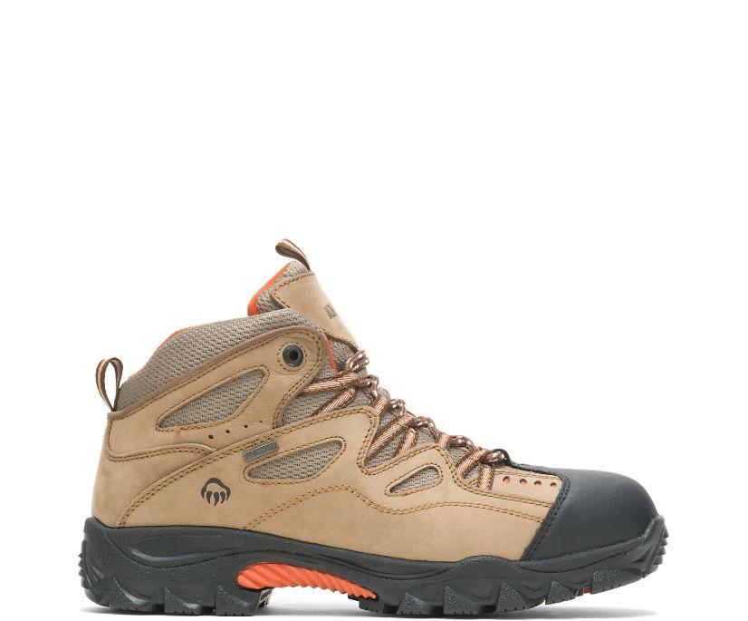 Durant Waterproof Steel-Toe Work Boot, Light Brown/Orange, dynamic
