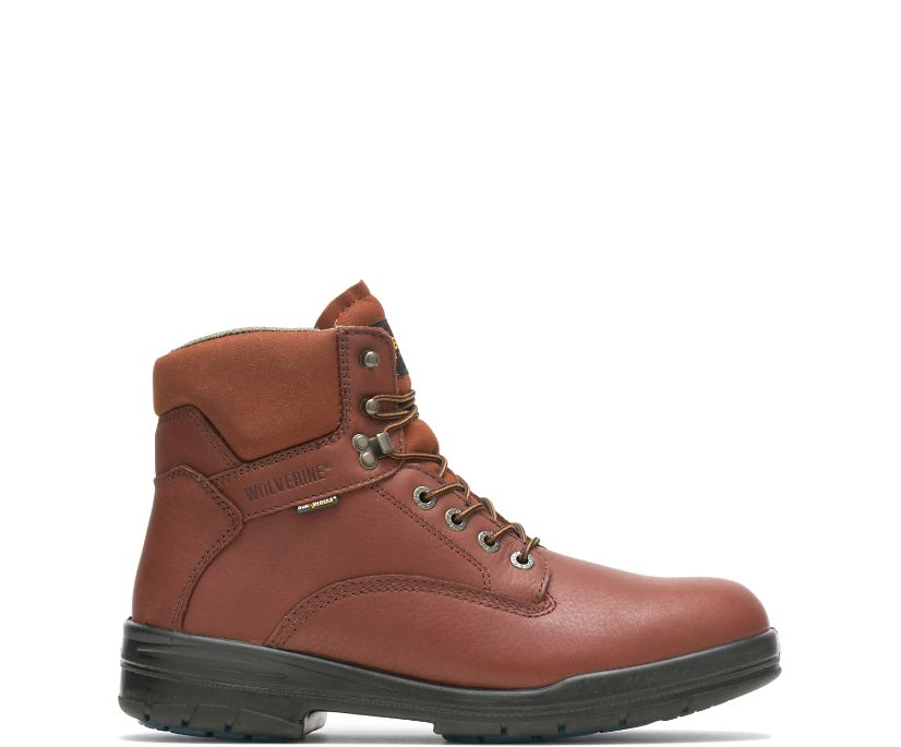 "DuraShocks® SR Steel-Toe Direct-Attach 6"" Work Boot, Brown, dynamic"