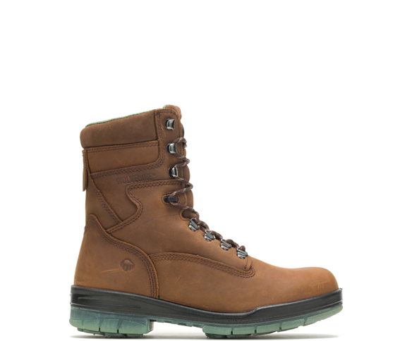 "I-90 DuraShocks® Waterproof Insulated 8"" Work Boot, Stone, dynamic"