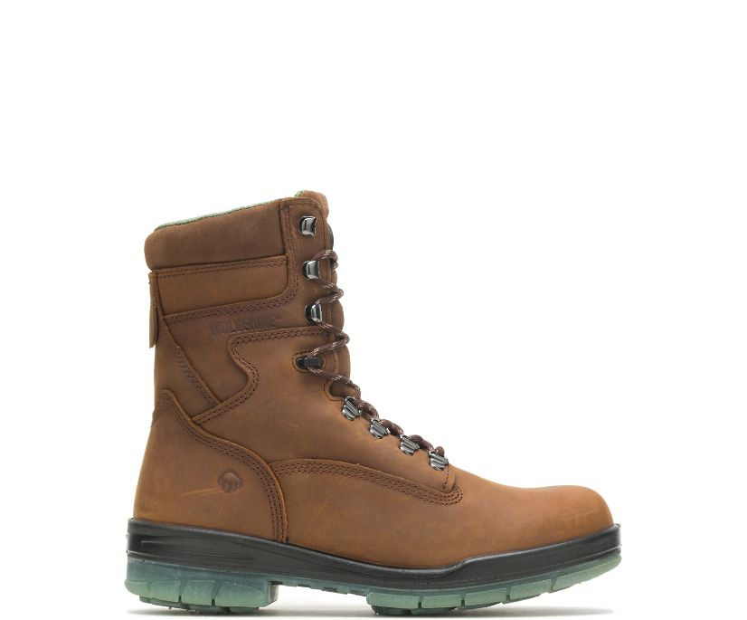 "I-90 DuraShocks® Waterproof Insulated 8"" Work Boot, Stone, dynamic"