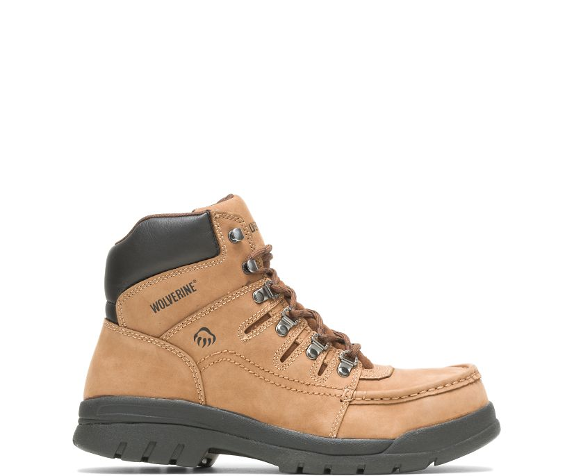 "Potomac English Moc Steel-Toe 6"" Work Boot, Brown, dynamic"