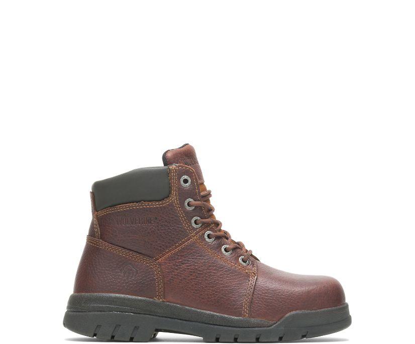 """Marquette Steel-Toe 6"""" Work Boot, Walnut, dynamic"""