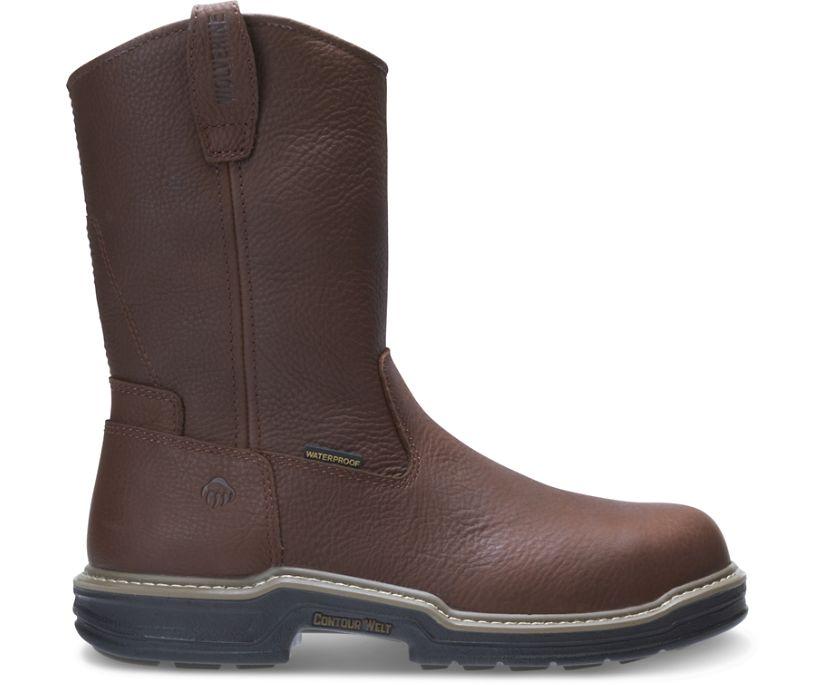 Buccaneer Steel-Toe EH Waterproof Wellington Work Boot, Dark Brown, dynamic