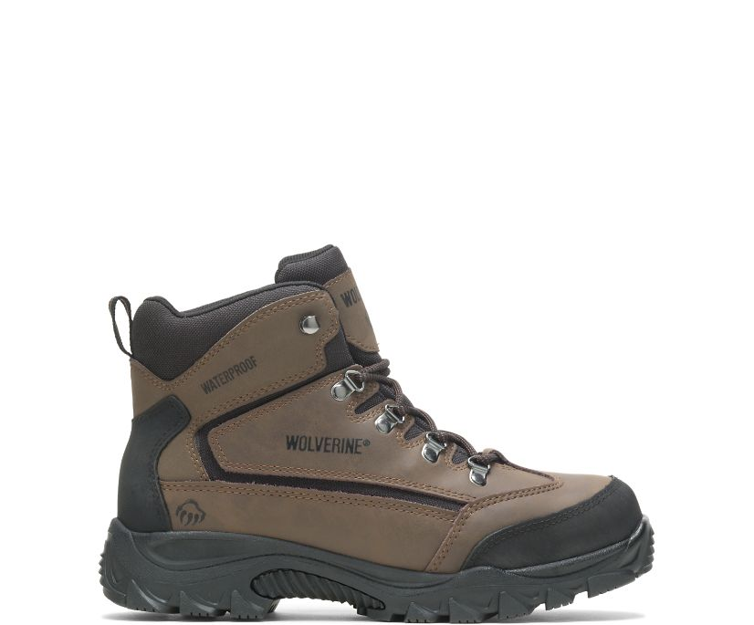 Spencer Waterproof Hiking Boot, Brown/Black, dynamic