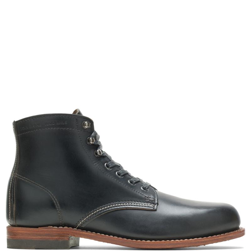 1920s Men's Workwear, Casual Clothes Wolverine Mens 1000 Mile Plain-Toe Original Boot Black Size 14 $385.00 AT vintagedancer.com