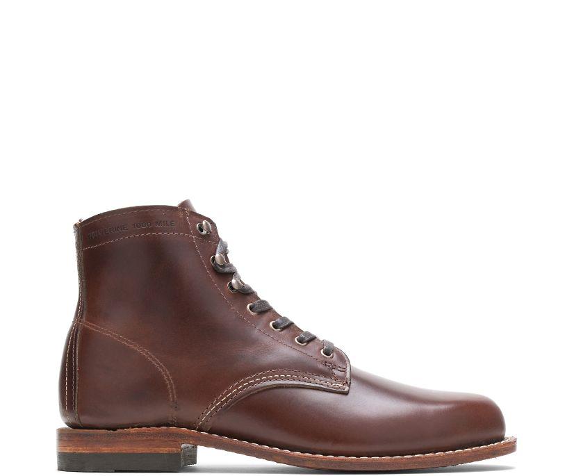 1000 Mile Plain-Toe Original Boot, Brown, dynamic