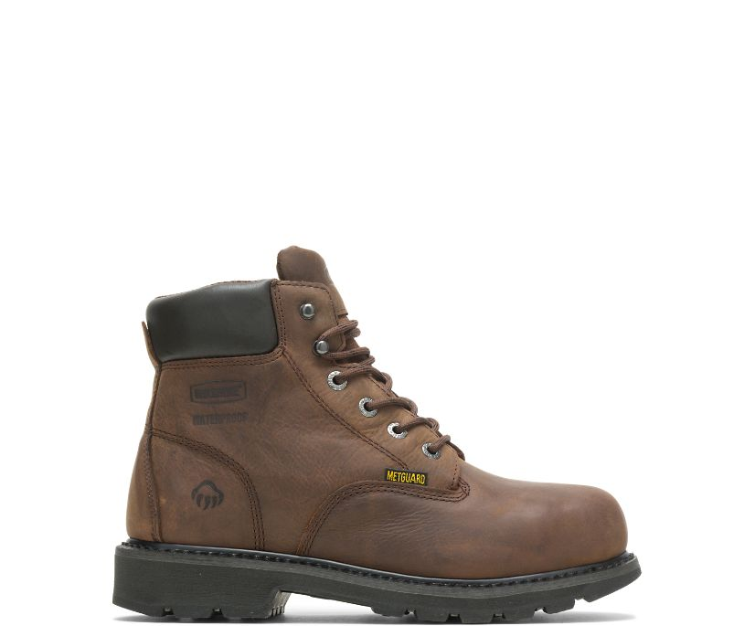 "McKay Waterproof Steel-Toe 6"" Work Boot, Brown, dynamic"