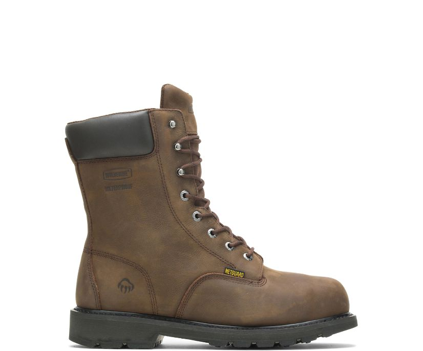 "McKay Waterproof Steel-Toe 8"" Work Boot, Brown, dynamic"