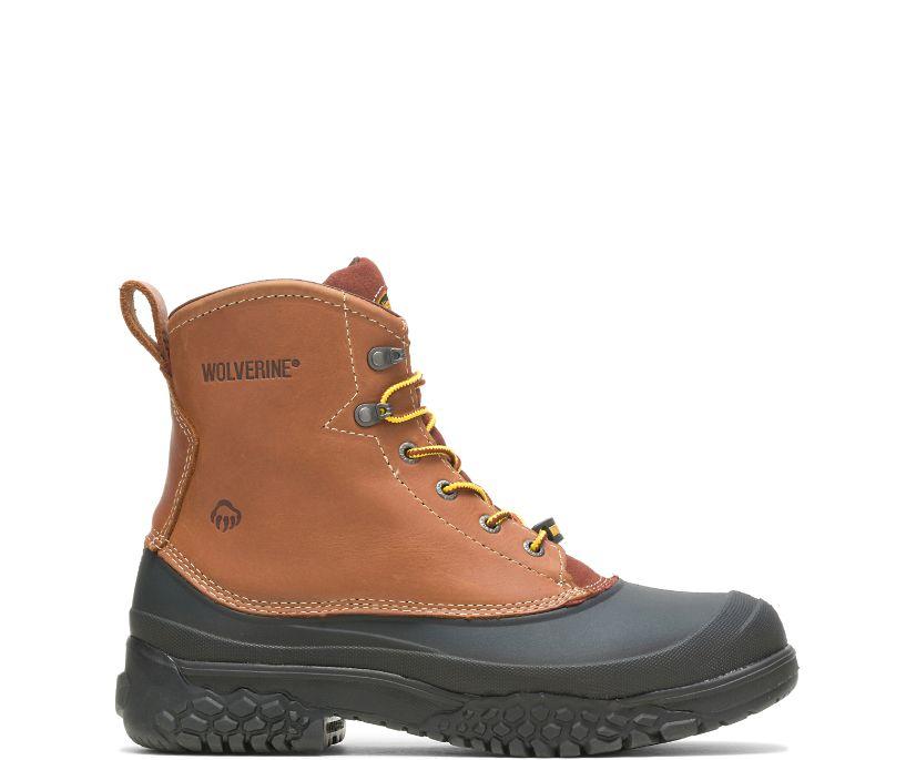 """Swampmonster Waterproof Steel Toe  6"""" Work Boot, Brown, dynamic"""