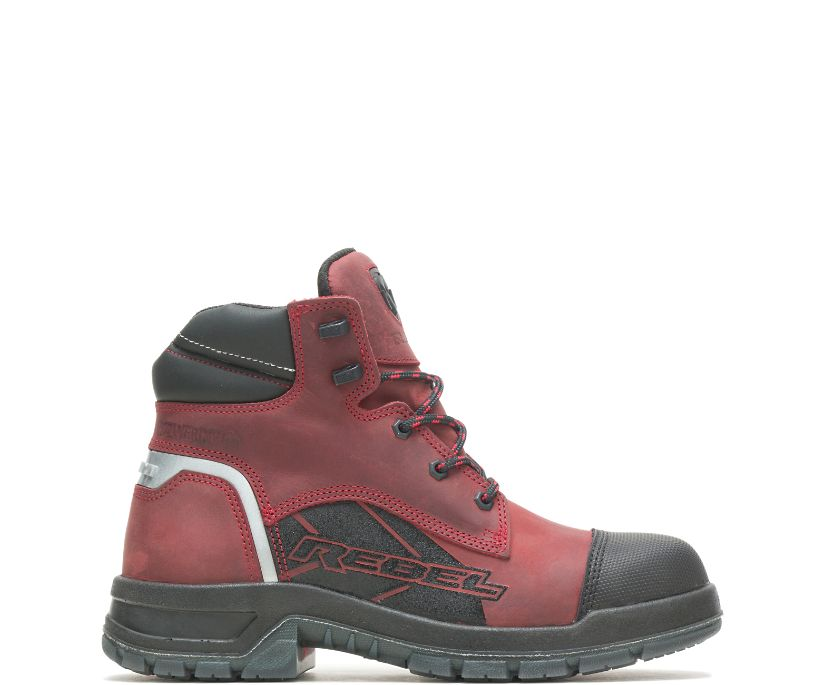 Ram Trucks Collection – Rebel Safety Toe Work Boot, Red, dynamic
