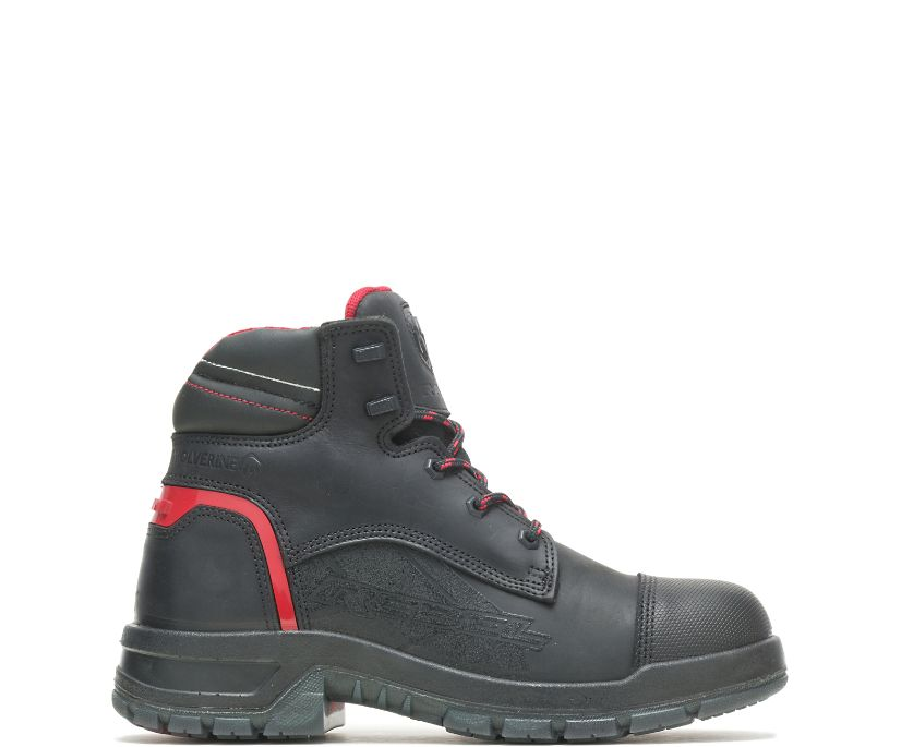Ram Trucks Collection – Rebel Safety Toe Work Boot, Black/Red, dynamic