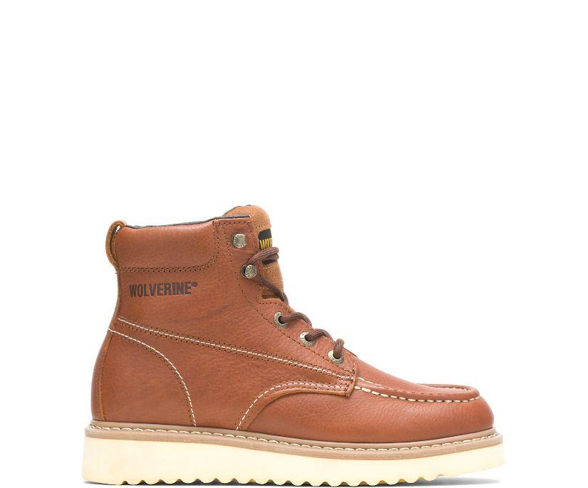 "Moc-Toe 6"" Work Boot, Brown, dynamic"