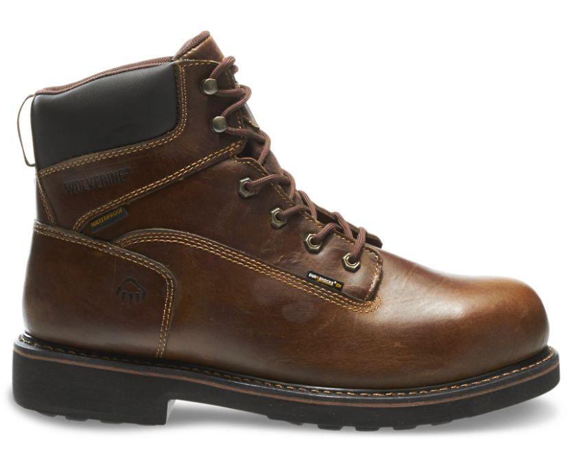 """Brek Durashocks® Waterproof 6"""" Steel-Toe EH Work Boot, Brown, dynamic"""